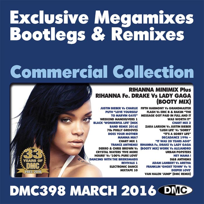 DMC Commercial Collection 398 March 2016: Exclusive Megamixes Bootlegs & Remixes [2016]