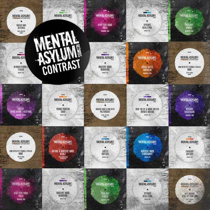Mental Asylum Contrast (unmixed tracks + mixed by Indecent Noise) [2019]