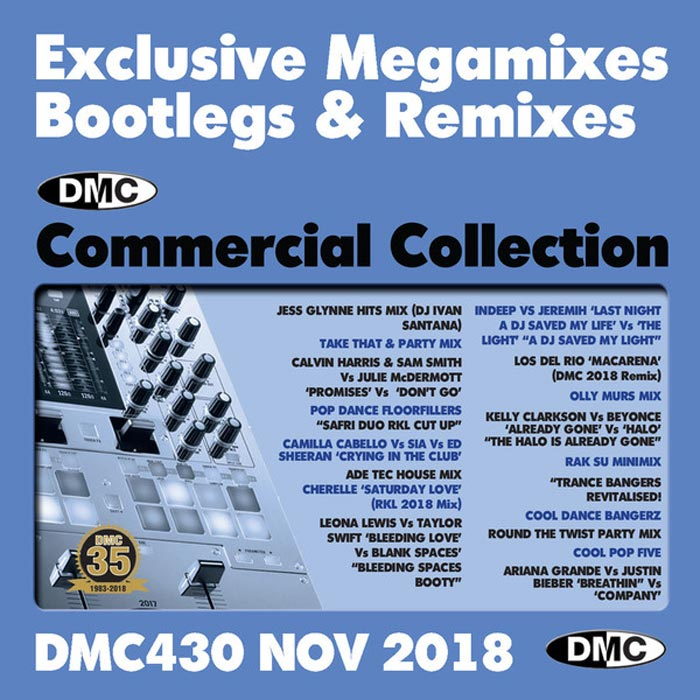 DMC Commercial Collection November 2018: Exclusive Megamixes Bootlegs & Remixes (Strictly DJ Only) [2018]