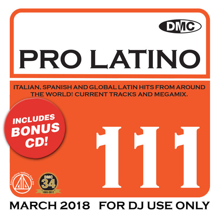 DMC Pro Latino 111: March 2018 (Strictly DJ Only)